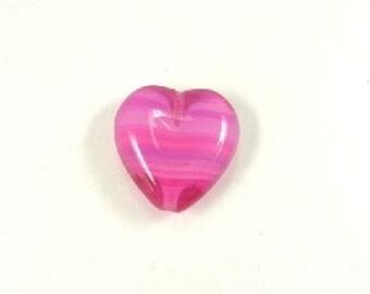 15mm Pink Glass Heart Bead   (E3379)