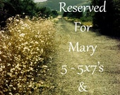 Reserved Listing For Mary: 5 - 5x7's and 1 - notecard