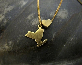 State Love - You Choose - NON-Engraved Charm Necklace - 18 inches