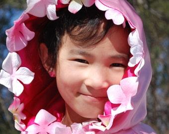 Child's Cloak-Pink Petals