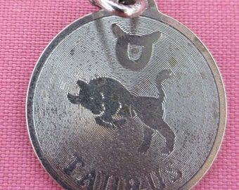TAURUS ZODIAC Sterling Silver charm or pendant
