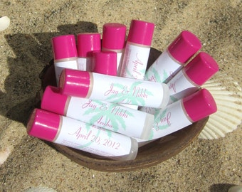 Destination Wedding Favor- Personalized Label- Lip Balms
