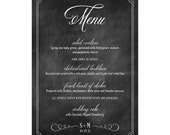 Rustic Love Menu - Set of 50 for Weddings, Events, Parties and More - by Abigail Christine Design