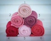 Stretch Knit Wraps in Pink Tones