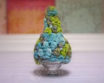 Merino Gnome Hat Newborn Blues Greens