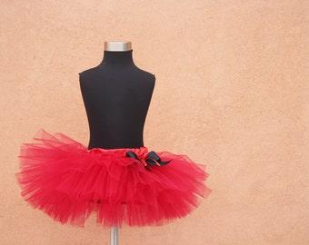 Red tutu skirt in vintage style petit ballerine - photo prop