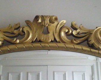 Hand Carved Gold leaf Mirror / Shipping , and / or NYC delivery INCLUDED