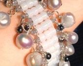 Freshwater Pearl and Hematite Beaded Bracelet