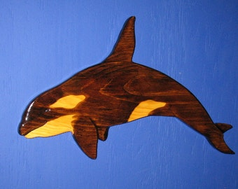 Whale Orca ( Killer Whale) Wall Plaque, Wall Hanging, Killer Whale, Orca, Orca Whale