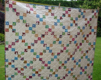 PDF Quilt Pattern, Jelly Roll Pattern, Beginner Pattern, Modern Pattern, Baby Quilt Pattern, Lap Twin Queen King sizes, Garden Trellis