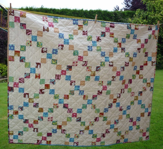 PDF Quilt Pattern for Jelly Rolls PDF Baby Lap Twin Queen King sizes - Garden Trellis - Beginner Pattern
