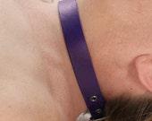 Purple Narrow Leather Collar