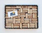 Wine Cork Board with Multicolored Pin Head Border