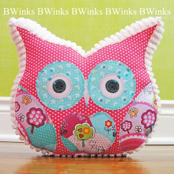Owl Pillow Stuffed Owl Bedroom Decor Pillow Easter By BWinks