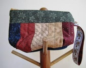 Country Wristlet Patchwork Quilt Mini Purse Cosmetic Clutch Bag  - Size Small