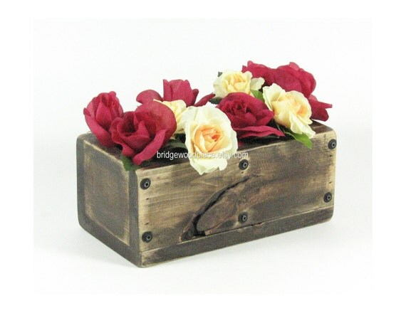 Items similar to table centerpiece wooden box wood