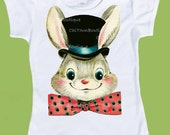 Top Hat Rabbit, Magic Rabbit, Easter Bunny, Boys' TShirts, Girls'TShirts, Toddler shirts, Boys Birthday Shirts by ChiTownBoutique