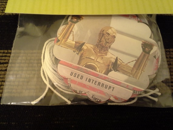 Set of 10 Star Wars Gift Tags, Scrapbook, Altered Art ----C 3PO