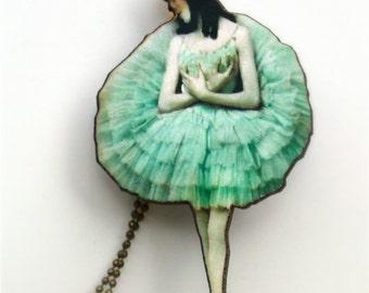 Ballerina collar joyas regalo - bailarina increíblemente detallada encanto collar de estilo Vintage