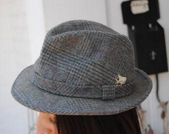 Vintage 1960's Grey Fedora with Feather Detail