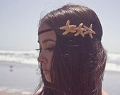 Triple Starfish Headband Mermaid Hair Accessories Nautical Ariel Hipster Costume Beachy Beach Boho Bohemian Ocean Sea Womens Gift Summer