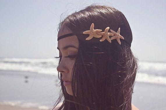 Triple Starfish Headband - Starfish Hair Accessories Mermaid Headband Mermaid Hair Accessories Nautical Headband Accessories Mermaid Costume