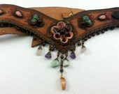 Boho Hippie Belt with gemstones