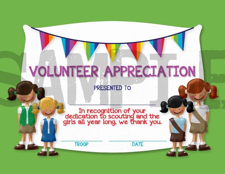 free printable parent school volunteer certificates | just ...