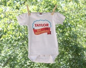 First Birthday // Thomas The Train Inspired with Personalization // Infant Bodysuit