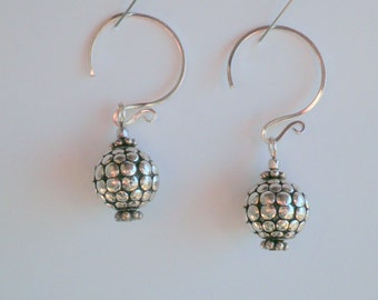 Sterling Silver Earrings Hot Air Balloon Style 11 mm Bead Steampunk-Style