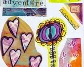 everyday adventure art journal collage sheet