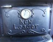 Vintage Antique Classic Cast Iron Kitchen Stove by New Leader - twirlswithpearls