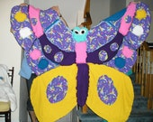 Tinkerbell Butterfly Shape Flannel Fabric Rag Quilt
