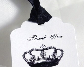 Wedding Favor Tag - Crown Favor Tag - Personalized Gift Tag