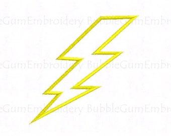Lightning Bolt Applique Design Instant Download