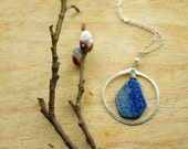 Lapis Lazuli and Silver Circle Necklace