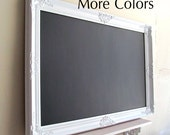 Framed CHALKBOARD Wedding Sign MORE COLORS Large Kitchen Chalk Board Magnetic White Restaurant Framed Chalkboard Office Ornate Baroque