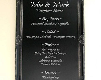 Black CHALKBOARD Gothic Wedding LaRGE 30x42 Kitchen Chalkboard Office Organizer Framed Chalkboard Decorative Chalk Board - MORE COLORS