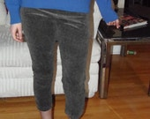 Black Friday Vntg 50s Corduroy Legging or Young Boys Pants - Grey - Stripped - Riding Pants - Womens Size S