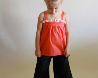 sugar ruffle tank top / pdf pattern sz toddler 12m to girls 14/16 / instant download