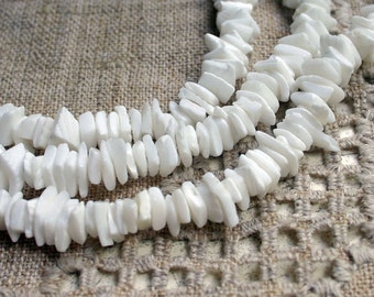 Bead 7-13mm Puka Shell Chip 16-Inch Strand
