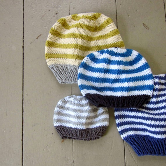 Pattern, basic hat knitting pattern, PDF knitted hat pattern: newborn ...