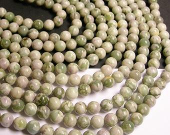 Jade - 10 mm round  beads -  40 beads per strand - new jade - lucky jade - RFG183
