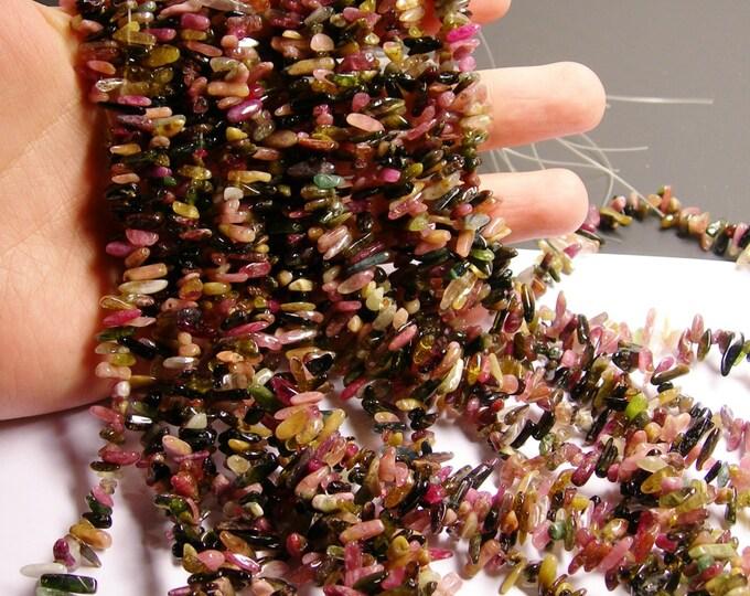 Tourmaline gemstone - chip stone - stick - point - 1 full strand - NRG73