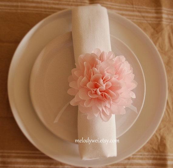 How To Make Tissue Paper Flower Napkin Rings