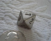 Pewter D8 8 Eight Sided Dice