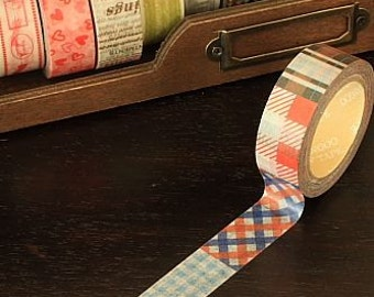 Tape-Washi Tape-Masking Tape-Single Roll-Plaid