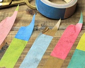 Tape-Washi Tape-Masking Tape-Single Roll-Multicolor