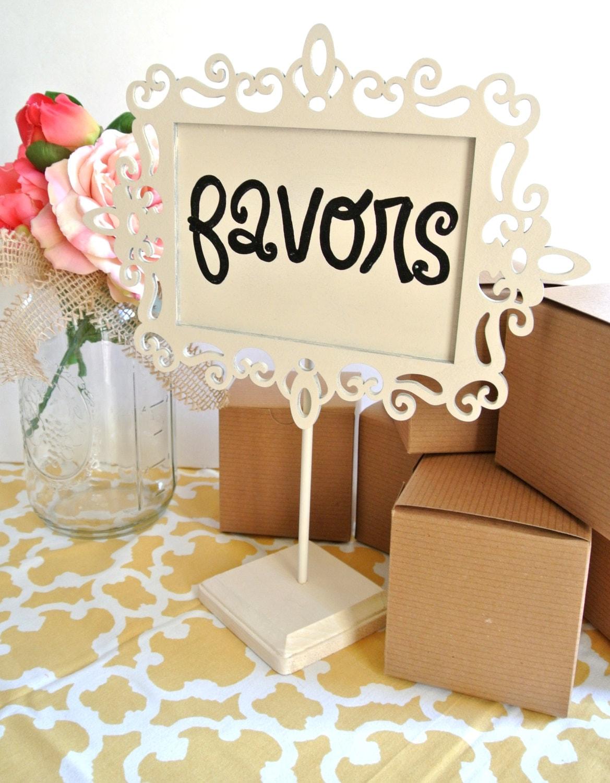 Wedding favor table sign wedding favor ideas wedding for Wedding table favours