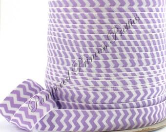 "5yd-Chevron Satin Elastic-Lavender 5/8"""